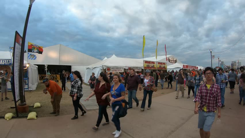 Crowds of party people at Tulsa Octoberfest - TULSA / OKLAHOMA - OCTOBER 21, 2017