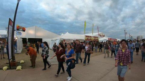 Crowds of party people at Tulsa Octoberfest - TULSA / OKLAHOMA - OCTOBER 21, 2017