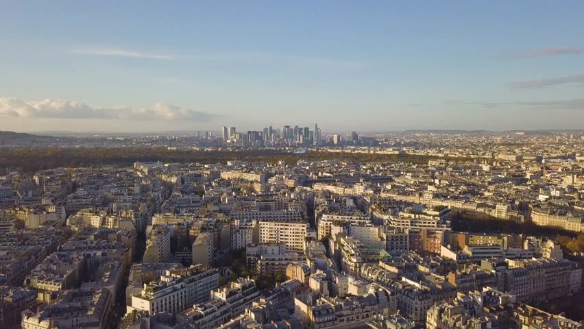 Flying above roofs of Paris | Shutterstock HD Video #32855260