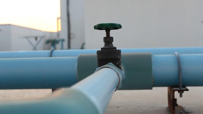 Water Pipeline Dolly in shot