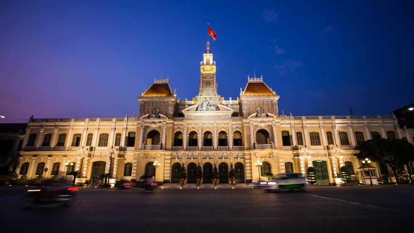 Timelapse Vietnam HCMC City Hall