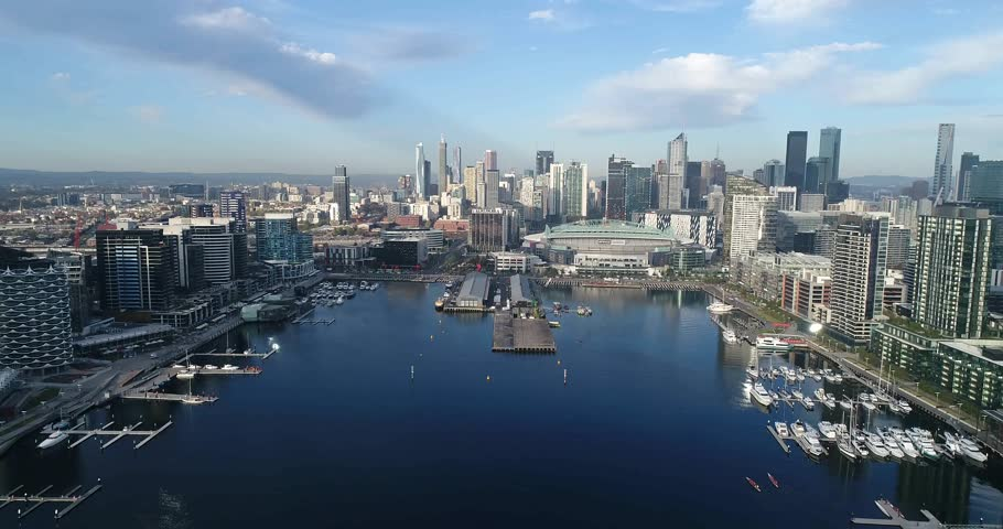 Melbourne Waterfront Apartments Stock Video Footage - 4K ...