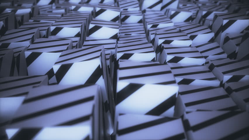 Abstract striped cubes. Seamless looping animation. 4K UHD. | Shutterstock HD Video #32912122