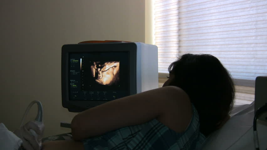 Pregnant Woman Getting Ultrasound Done Stock Footage Video ...