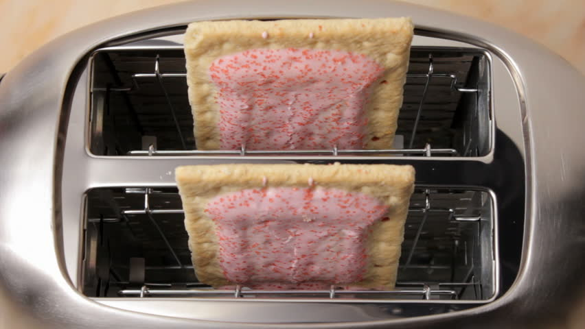 Toaster pastry in toaster