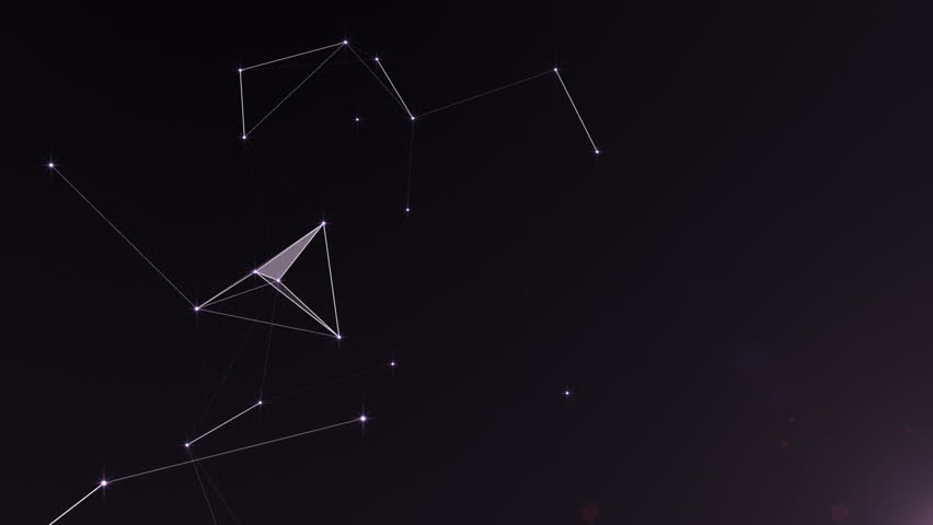Plexus of abstract lines, triangles and dots. Starry sky, space. | Shutterstock HD Video #32975590