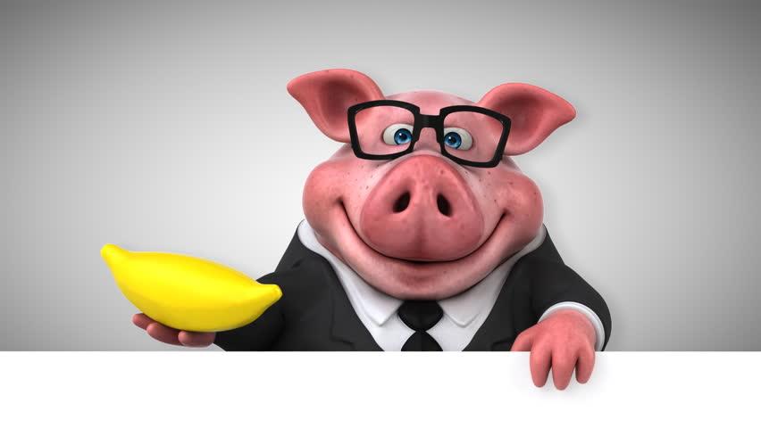 Смешная картинка злая свинья