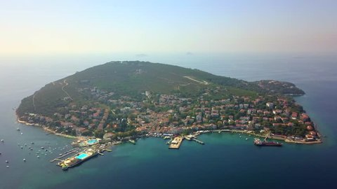 Aerial view of Burgazada (Fortress Island) is one of the Prince islands from Istanbul, Turkey