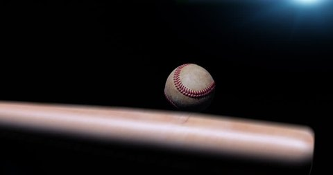 4k bat hitting baseball super slow motion Stock footage