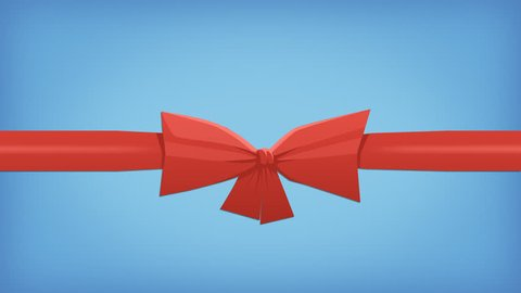 Animation Tying a Red Ribbon Bow with Alpha Matte