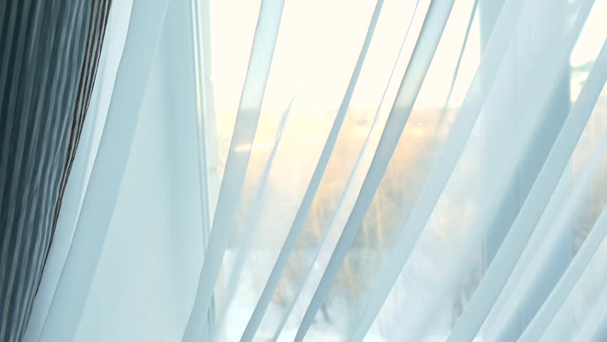 The sun behind the curtain in the window | Shutterstock HD Video #33178840