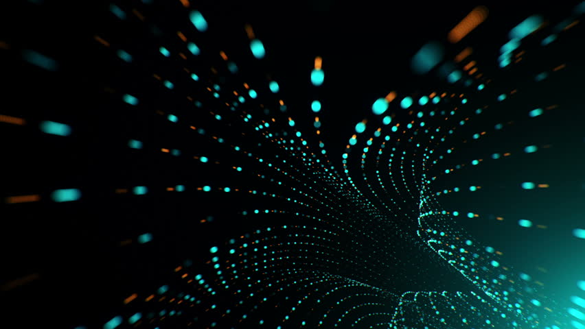 Abstract background with flying into digital tunnel from flickering particles   Shutterstock HD Video #33194320