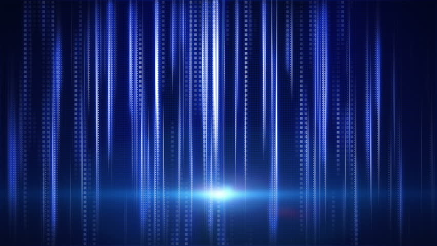 Blue stripes and squares tech background loop | Shutterstock HD Video #3321950