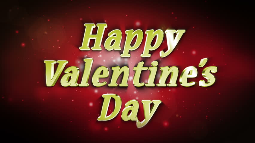 happy valentines day text in particle - Valentines Day Videos