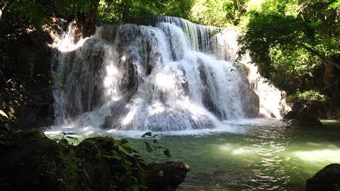 It is one of the beautiful. And the popularity of foreign tourists. Huai Mae Khamin Waterfalls of Thailand