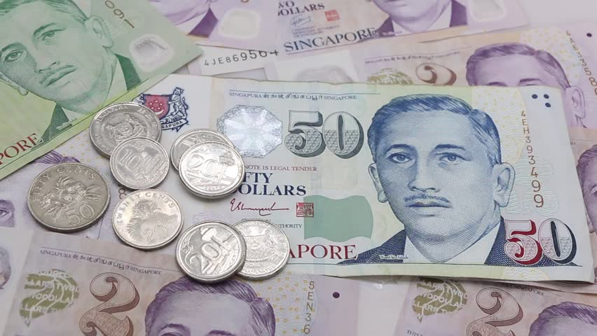 Singapore banknotes and singapore coins, dollar. | Shutterstock HD Video #33325420