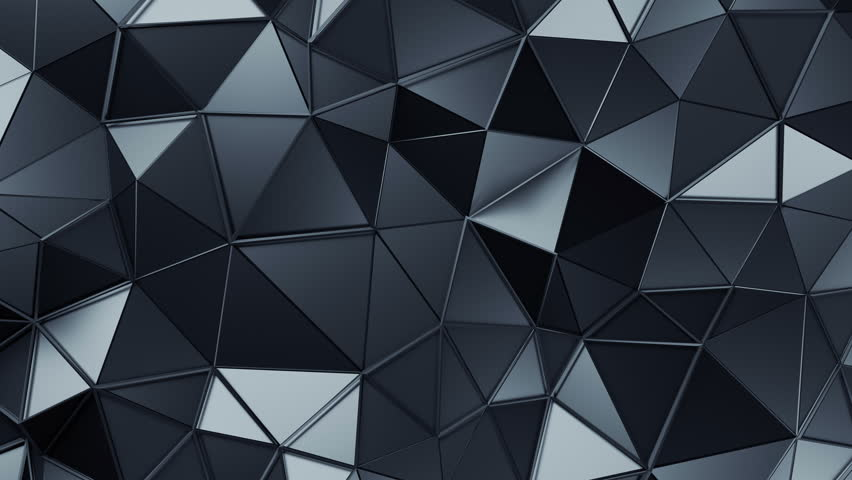 Abstract 3d rendering of triangulated surface, seamless animation. Contemporary loopable background of futuristic polygonal shape. Distorted low poly backdrop design with sharp lines. Loop, 4k, UHD | Shutterstock HD Video #33334630