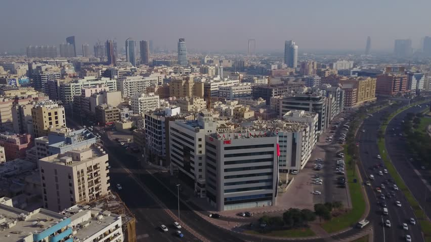 United Arab Emirates aerial view. Dubai, district, highway aerial view | Shutterstock HD Video #33360520