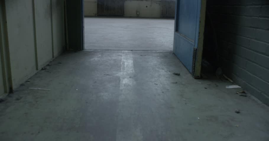 empty abandoned industrial factory warehouse loft space studio slow motion