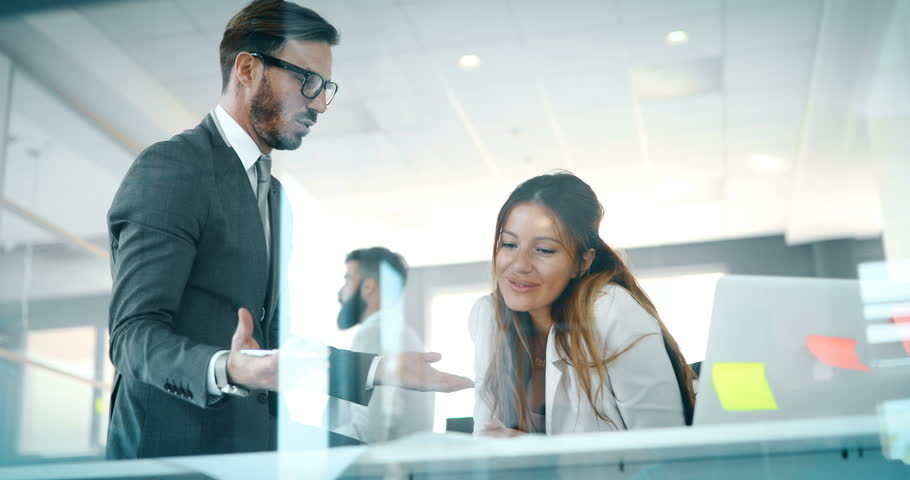 Portrait of architects having discussion in office   Shutterstock HD Video #33381520