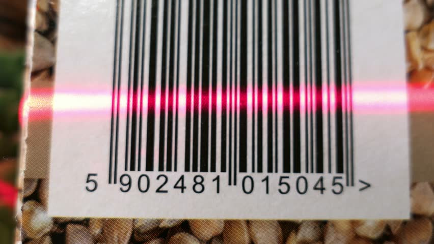 Scanning Barcodes of Multiple Products With Red Laser | Shutterstock HD Video #33386530