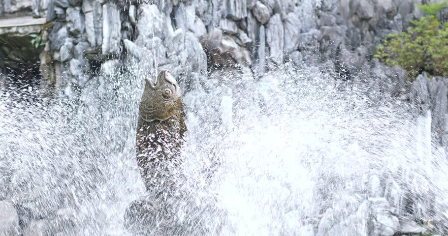 Water fountain in Chinese garden | Shutterstock HD Video #33404590