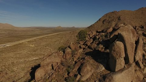 Sierra Blanca, Quitman mountains landscapes aerial video, New Mexico