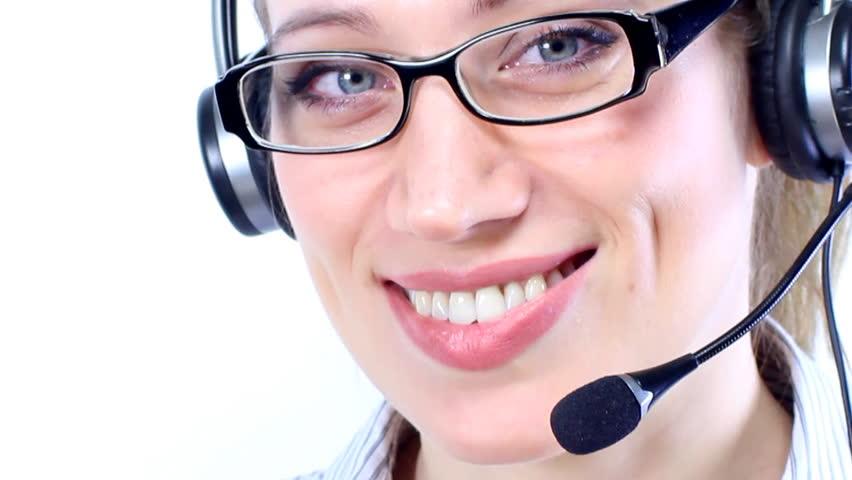 Woman working in a call center    Shutterstock HD Video #3343520