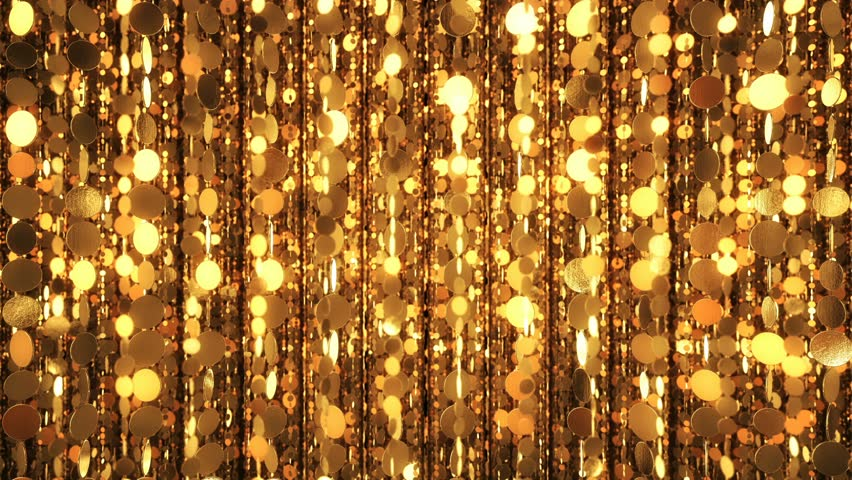 Golden Abstract Chains Soft Glow Gold Glitter Shine 4K Background