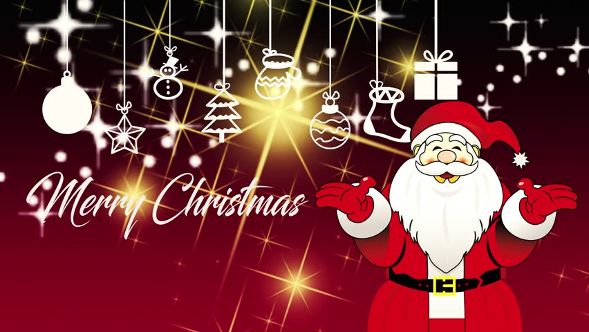 Cartoon santa claus happy new years stock footage video 7846699 santa claus merry christmas card hd stock video clip m4hsunfo Images