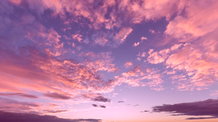 EVENING CLOUDS FAST MOVING AWAY, ROLLING DARK SUNSET SKY, Red purple orange blue pink cloudscape time lapse background. FULL HD. | Shutterstock HD Video #33468100