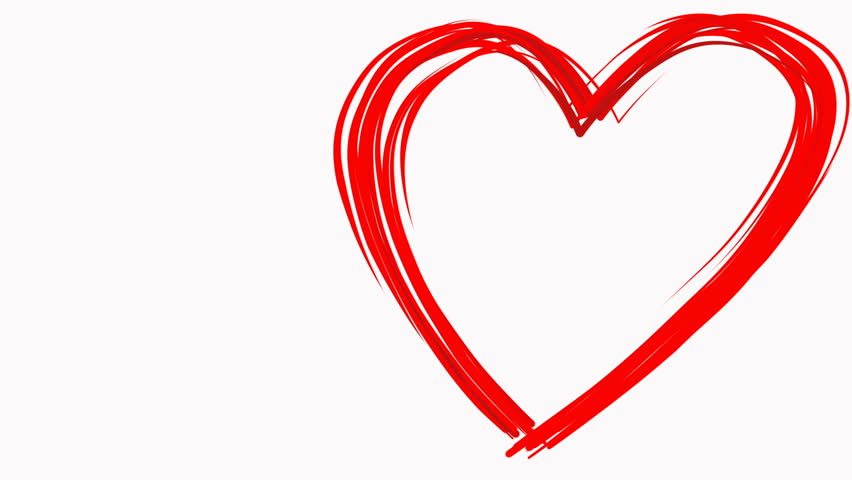 Heart Shape Drawn Like By Stock Footage Video 100 Royalty Free