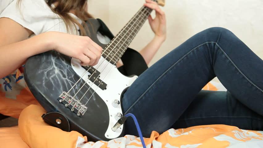 Teen girls guitars