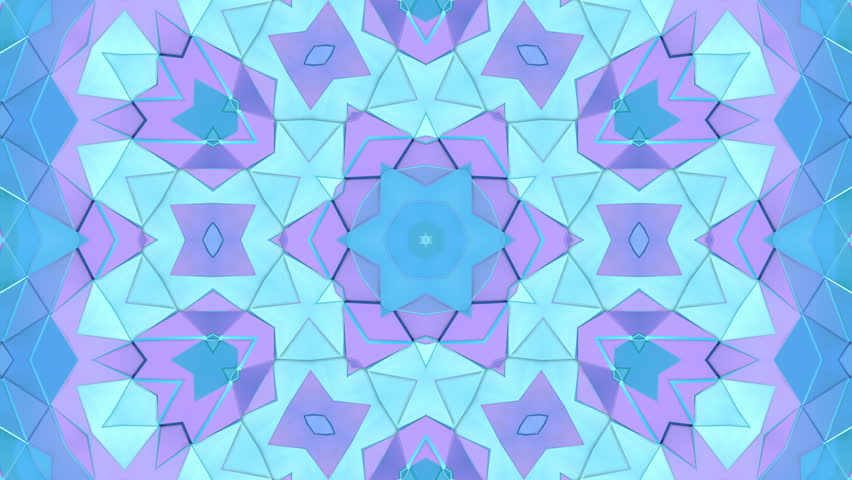 Looped animation of 3d geometry, geometric forms and shapes are transformed. Blue composition in low poly style kaleidoscope effect. Motion graphics background for vj shows. 4k seamless footage .16 | Shutterstock HD Video #33597433