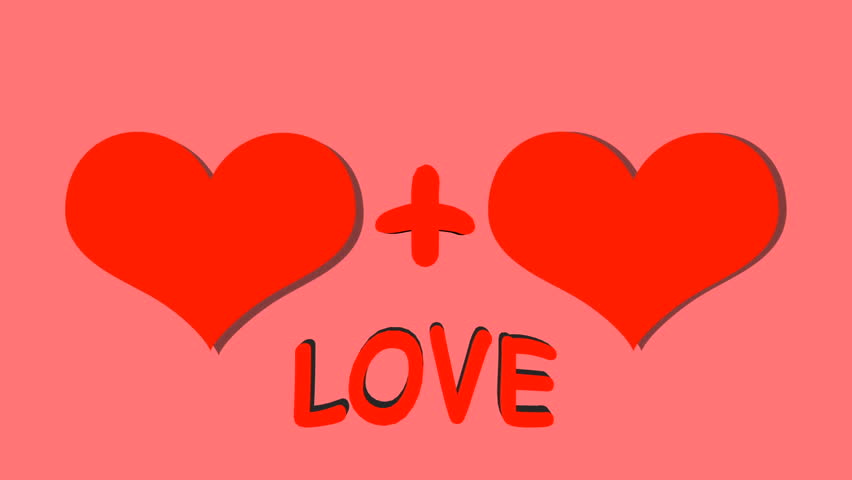 Hearts on pink background. The inscription love | Shutterstock HD Video #33603040