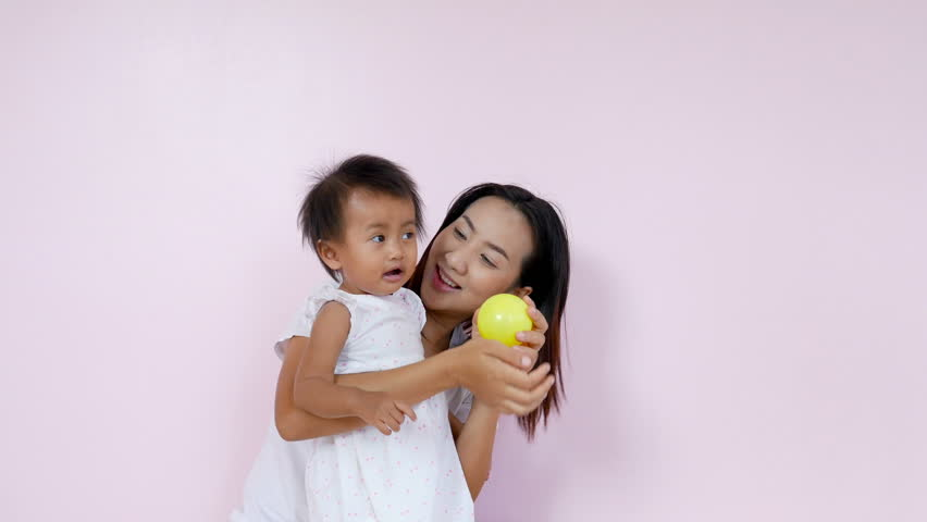 4k of Asian mom and her baby having fun and playing at home | Shutterstock HD Video #33606706
