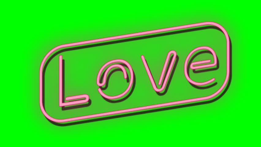 Neon light glow. Love word from neon bulb. Alpha channel. Put it on own any wall background and scale. Love concept disco club. | Shutterstock HD Video #33652240
