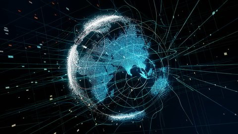 Global network concept. IoT(Internet of Things). ICT(Information Communication Network).