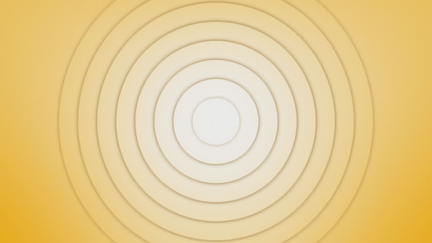 Radio signal waves effect. Circles radiating out from the center. Animation with concentric rings moving. Slowly expanding circle. Psychodelic, hypnotic graphic pattern. Radar waves symbol.