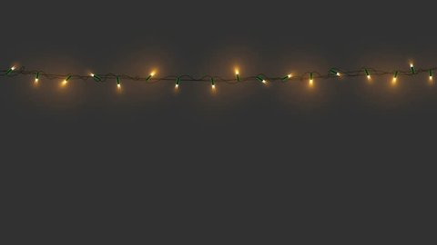 Christmas lights with alpha channel. Flashing Xmas garlands