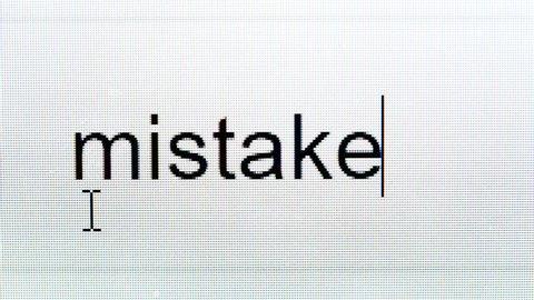 mistake grammar closeup computer screen