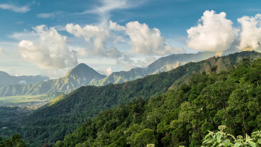 Mountains at the Taman Wisata Pusuk Sembalun Viewpoint timelapse, Lombok, Indonesia | Shutterstock HD Video #33769792