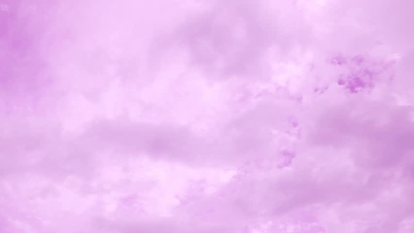 Dark Clouds On Purple Colored Twilight Sky Stock Footage ...
