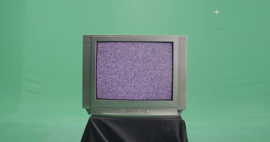 Old TV on the green screen