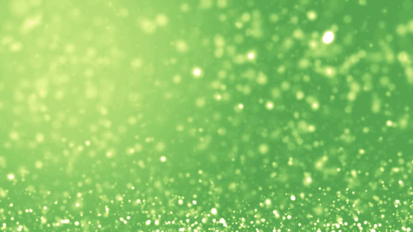 Elegant green background abstract with snowflakes. Christmas animated lime background. White glitter - winter theme. Green screen. Seamless loop.