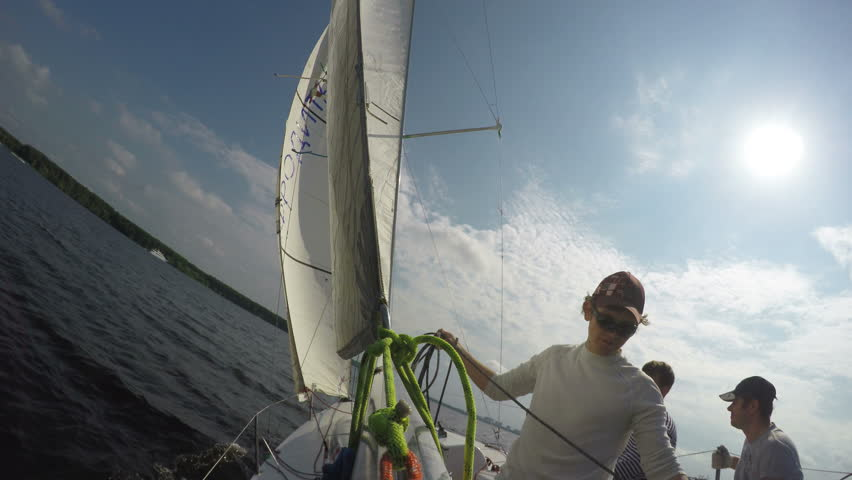 Training Sailors with Sails and Stock Footage Video (100% Royalty-free)  33923950 | Shutterstock