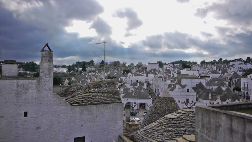 Trulli - traditional homes in Alberobello, Italy. Alberobello is UNESCO world heritage site