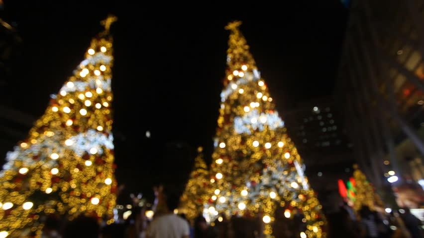 Christmas lights at night, defocused | Shutterstock HD Video #33964210
