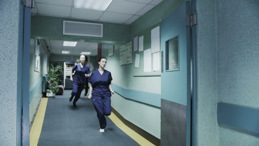 Hospital Corridor Lighting Design: Stock Video Clip Of Doctor's And Medical Staff Are Running
