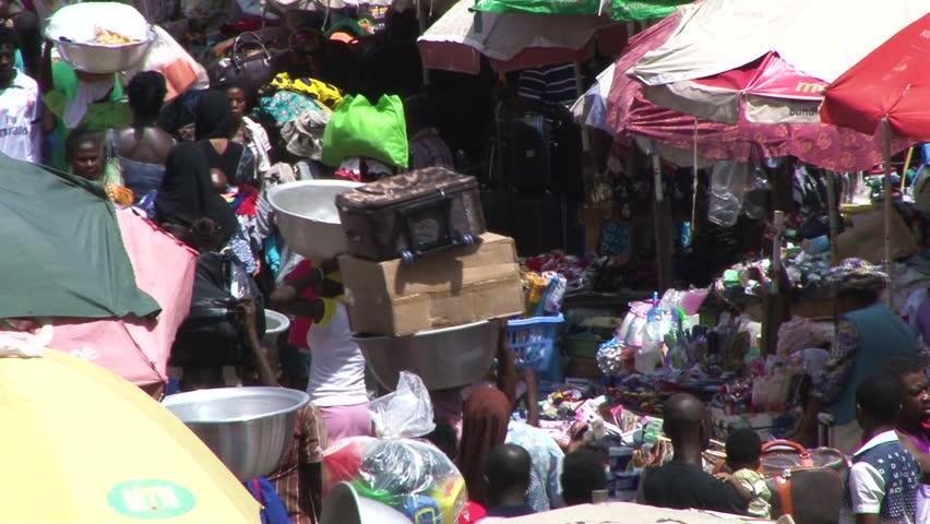 Ghana Makola Market in Accra Stock Footage Video (100% Royalty-free)  34108990 | Shutterstock